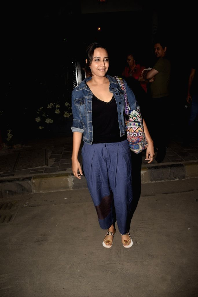 Actress Swara Bhaskar seen at Soho house in Mumbai on Feb 24, 2019. - Swara Bhaskar