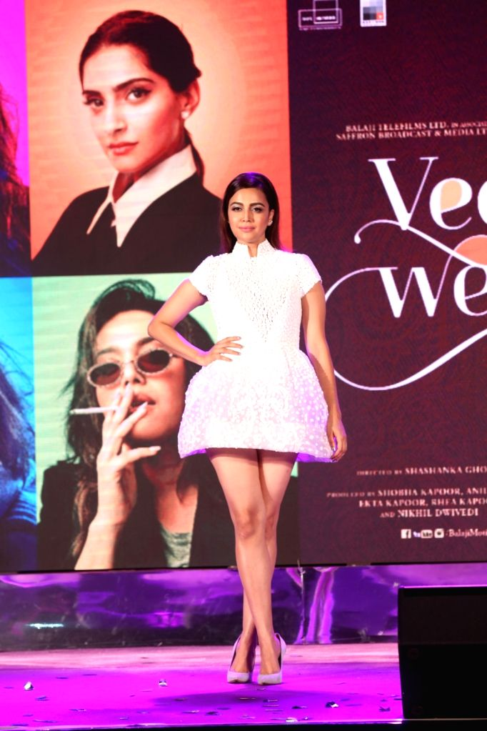 "Actress Swara Bhasker at the music launch of her upcoming film ""Veere Di Wedding"" in Mumbai on May 22, 2018. - Swara Bhasker"