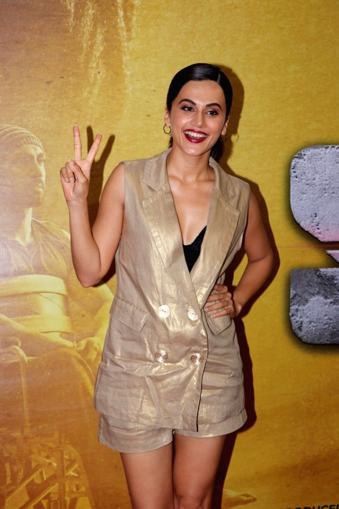 """Actress Taapsee Pannu at the success party of her film """"Soorma"""" in Mumbai on Aug 3, 2018. - Taapsee Pannu"""