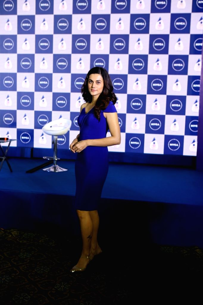Actress Taapsee Pannu during the launch of a cosmetic product in Mumbai on March 5, 2019. - Taapsee Pannu