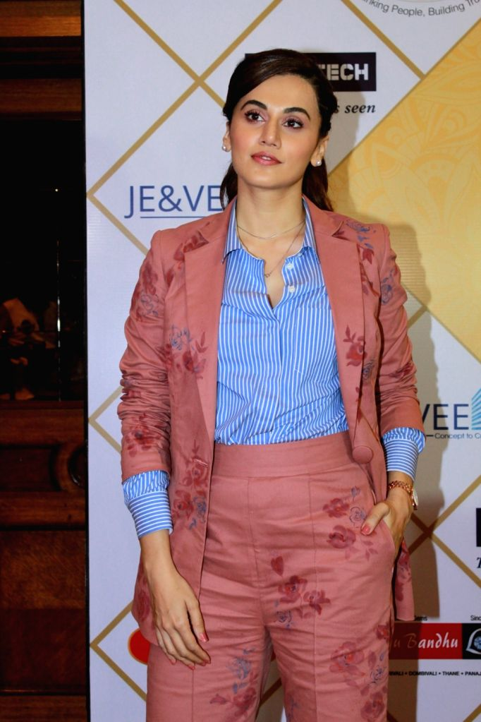 Actress Taapsee Pannu during the NBT Utsav Awards 2019, Mumbai on July 27, 2019. - Taapsee Pannu
