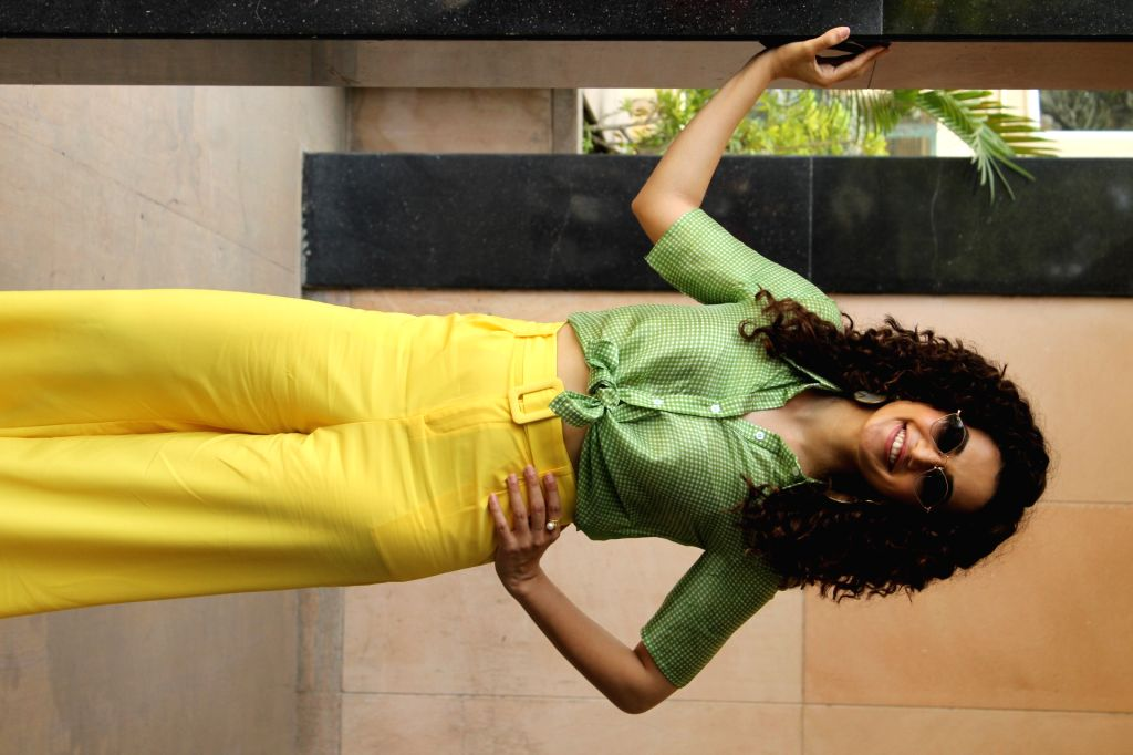 """Actress Taapsee Pannu during the promotion of her upcoming film """"Game Over"""", in Mumbai, on June 3, 2019. - Taapsee Pannu"""