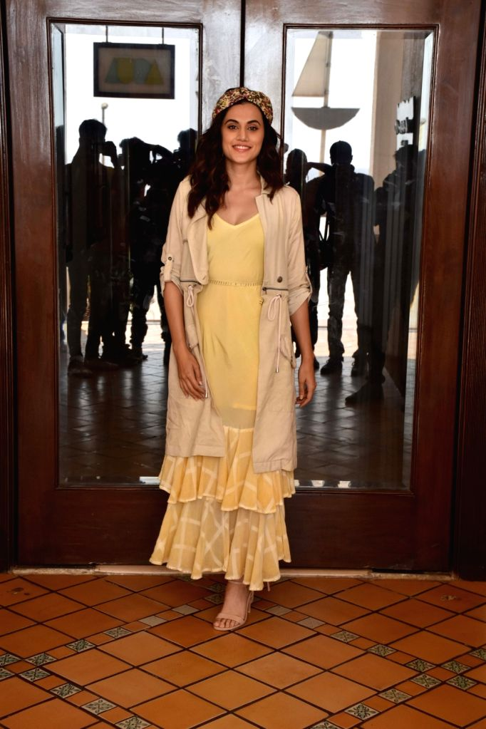 """Actress Taapsee Pannu during the promotions of her upcoming film """"Game Over"""" in Mumbai, on May 31, 2019. - Taapsee Pannu"""