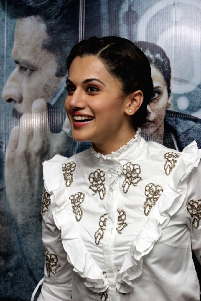 Actress Taapsee Pannu during the song launch Zinda from film Naam Shabana in Mumbai on March 10, 2017. - Taapsee Pannu