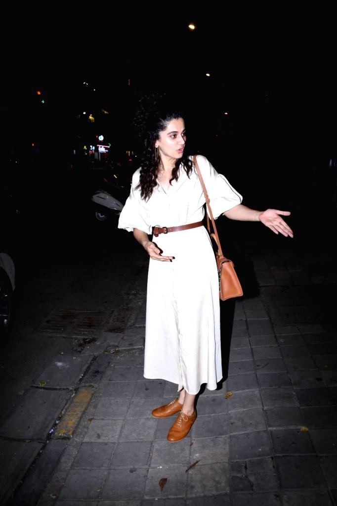 Actress Taapsee Pannu seen at Bandra in Mumbai on Oct 28, 2019. - Taapsee Pannu
