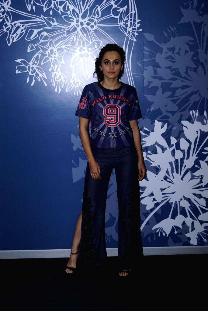 Actress Taapsee Pannu seen at the office of Sony Pictures, in Mumbai on May 31, 2018. - Taapsee Pannu