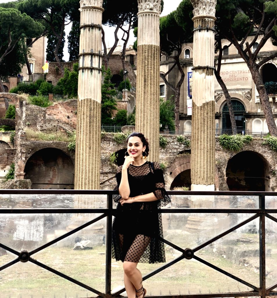 Actress Taapsee Pannu seen on the streets of Rome. - Taapsee Pannu