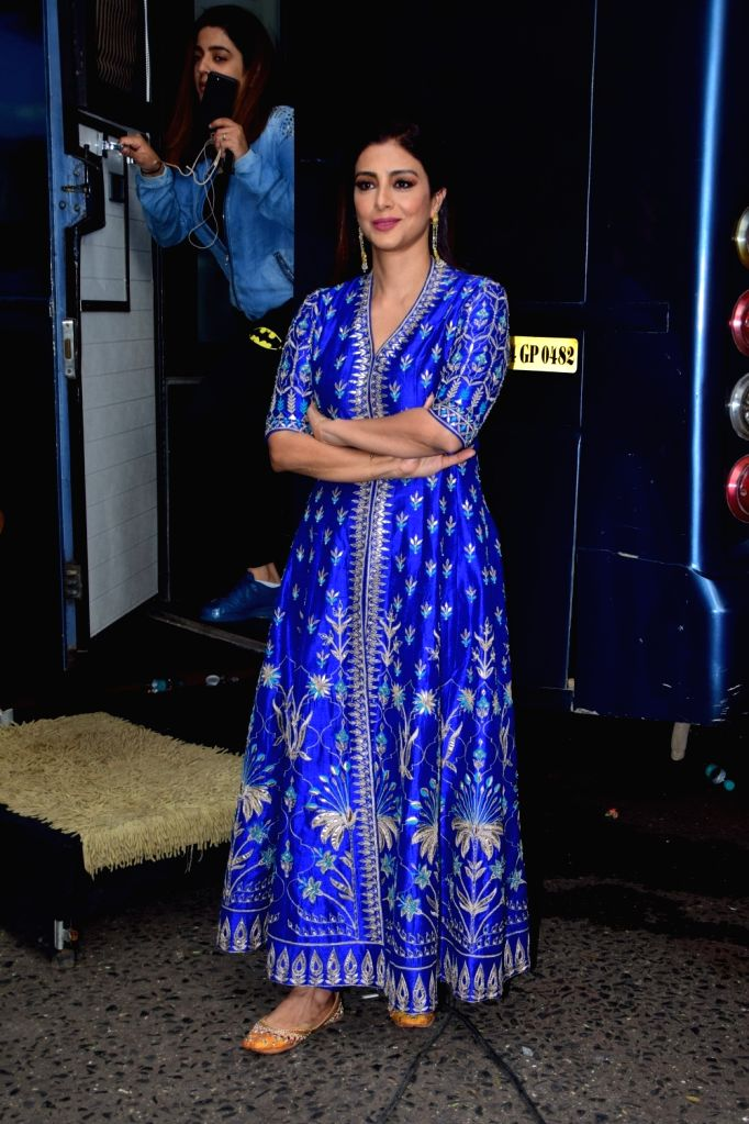 "Actress Tabu during the promotion of her upcoming film ""Golmaal Again"" on the sets of television show ""The Drama Company"" in Mumbai on Oct 9, 2017. - Tabu"