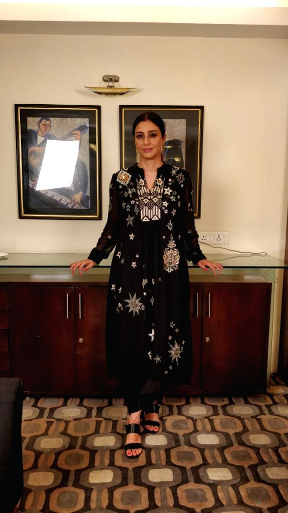 """Actress Tabu during the promotions of her upcoming film """"Missing"""" in Mumbai on April 3, 2018. - Tabu"""