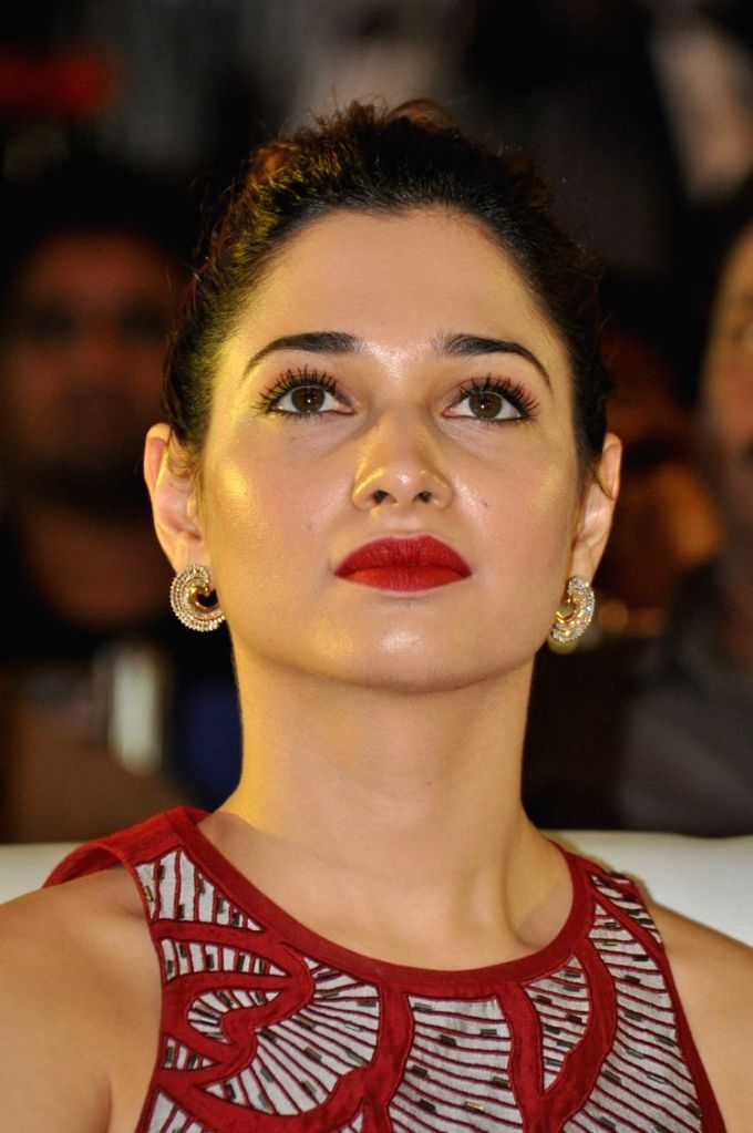 Actress Tamanna during the  Bengal Tiger Movie Triple Platinum disc function held at Taj Deccan Hotel in Hyderabad on Nov 30, 2015 - Tamanna