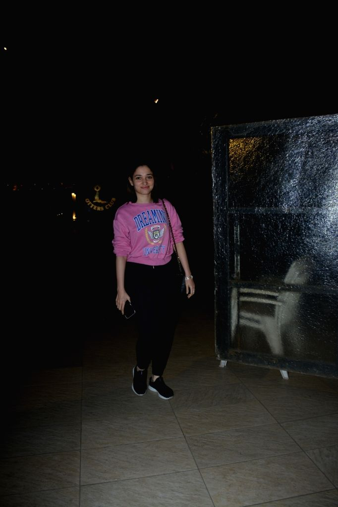 Actress Tamannaah Bhatia seen at a club in Mumbai's Bandra on Feb 3, 2019. - Tamannaah Bhatia
