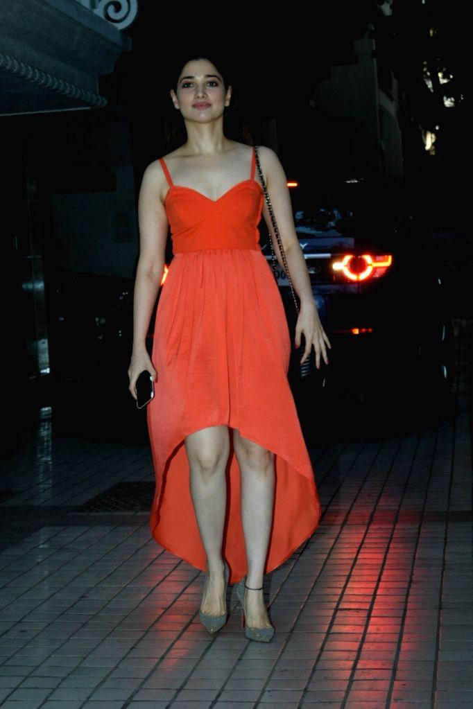 Actress Tamannaah Bhatia seen in Mumbai's Juhu, on May 12, 2019. - Tamannaah Bhatia