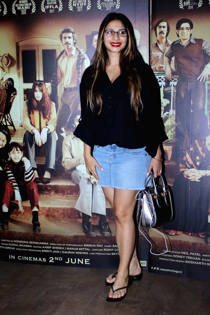 Actress Tanisha Mukherjee during the screening of film A Death in The Gunj in Mumbai on May 29, 2017. - Tanisha Mukherjee