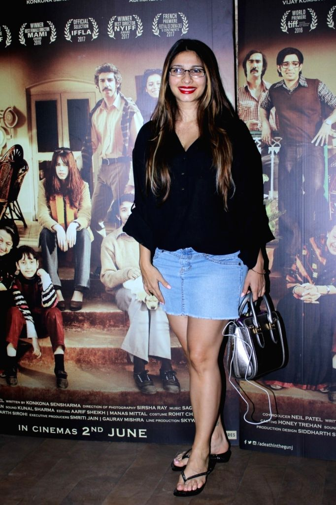 Actress Tanisha Mukherjee during the screening of film A Death in The Gunj in Mumbai on May 29, 2017. - Tanisha Mukherjee
