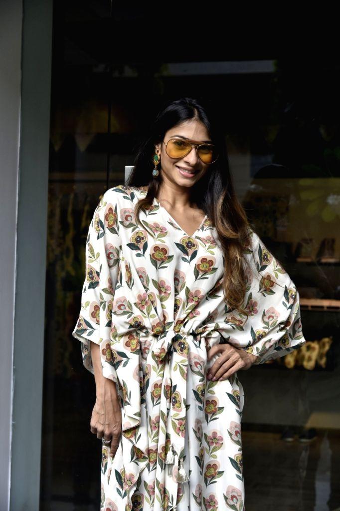 Actress Tanishaa Mukerji at Payal Singhal's print Bazaar collection launch in Mumbai on May 31, 2018. - Tanishaa Mukerji