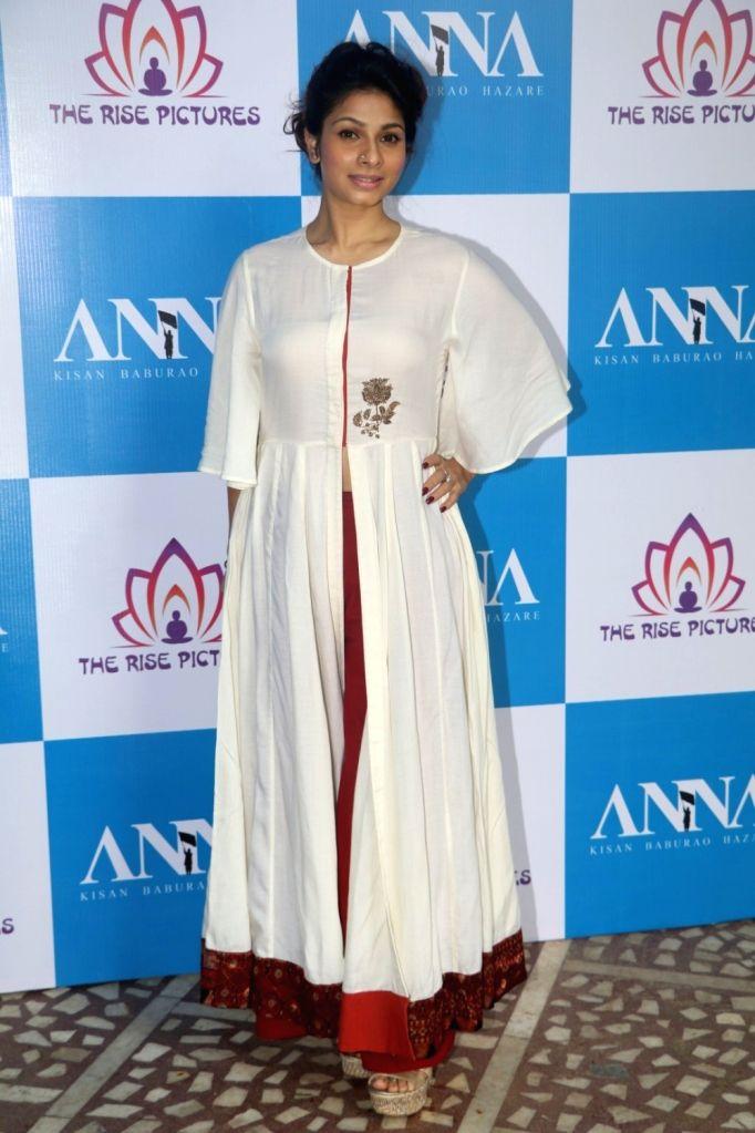 Actress Tanishaa Mukerji during the poster launch of film Anna in Mumbai on June 27, 2016. - Tanishaa Mukerji