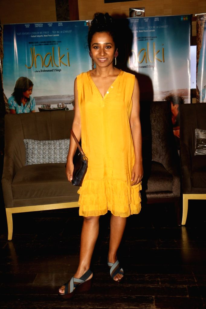 "Actress Tannishtha Chatterjee during the screening of film ""Jhalki"" in Mumbai on Sep 7, 2019. - Tannishtha Chatterjee"