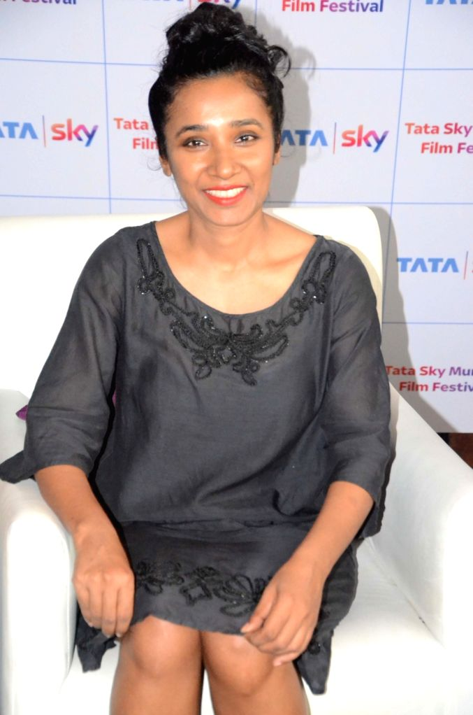 Actress Tannishtha Chatterjee during the Tata Sky and Mami Hidden Gems of Indian Cinema panel discussion in Mumbai on Oct 4, 2017. - Tannishtha Chatterjee
