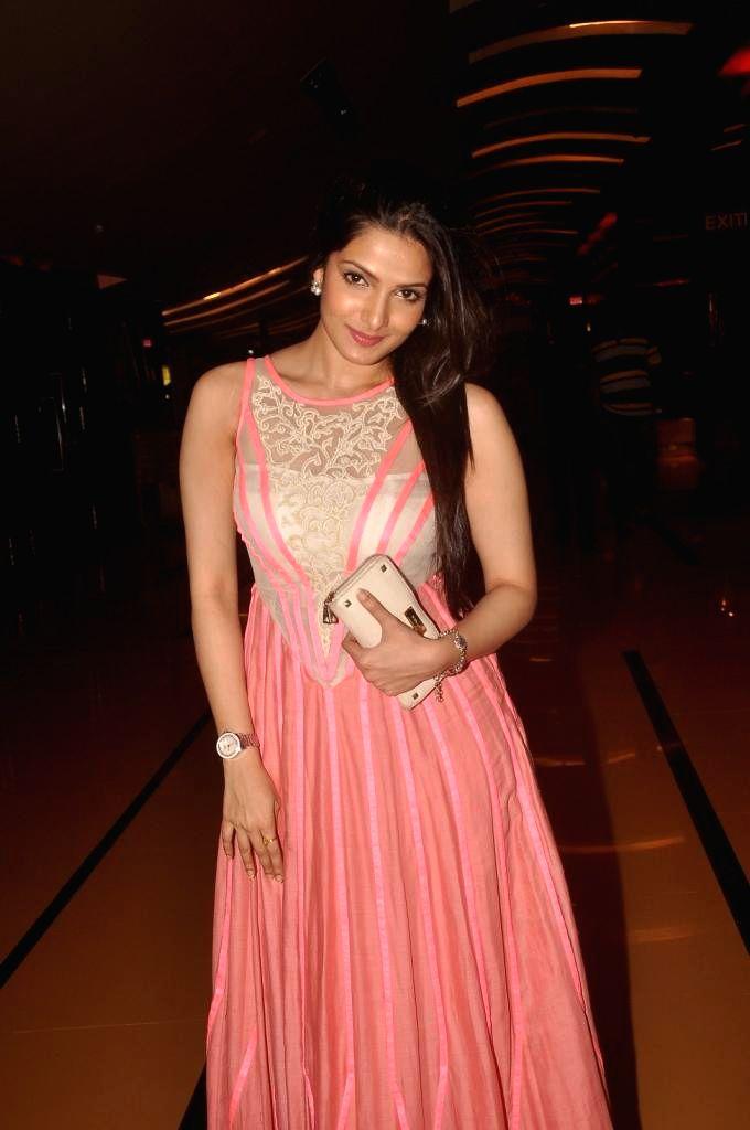 Actress Tanushree Chakraborty during special screening of Bengali film Buno Haansh in Mumbai. - Tanushree Chakraborty