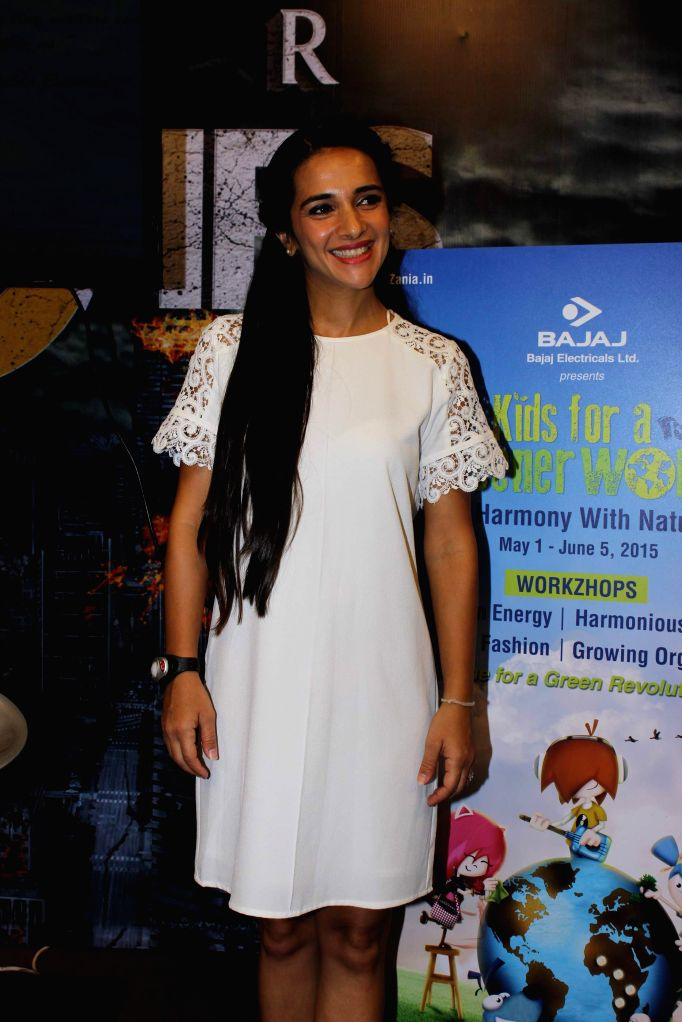 Actress Tara Sharma during a discussion on Greener World Campaign by Kidzania in Mumbai on 16th May 2015