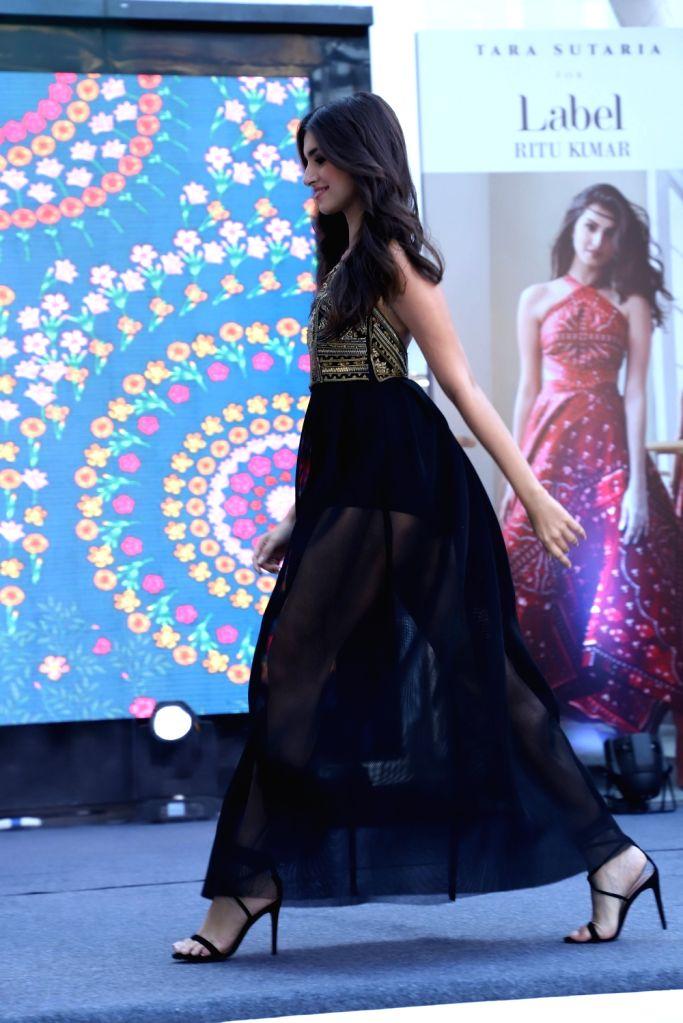 Actress Tara Sutaria at the launch of fashion designer Ritu Kumar???s SS 19 collection, in Mumbai, on May 11, 2019. - Tara Sutaria and Ritu Kumar