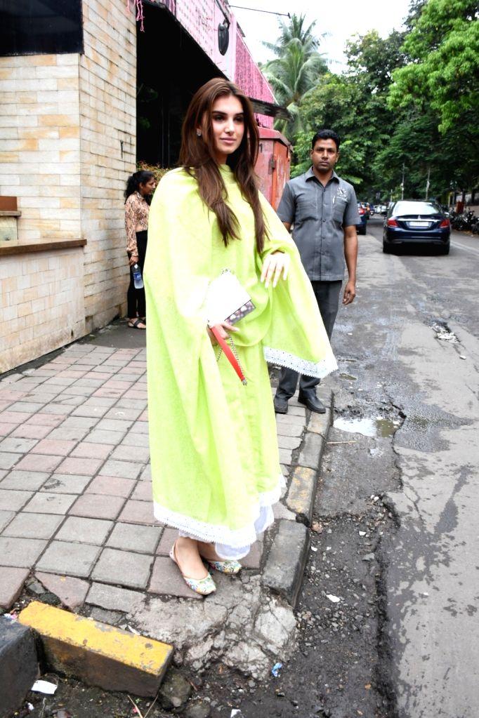 Actress Tara Sutaria seen at Bandra in Mumbai on Oct 26, 2019. - Tara Sutaria