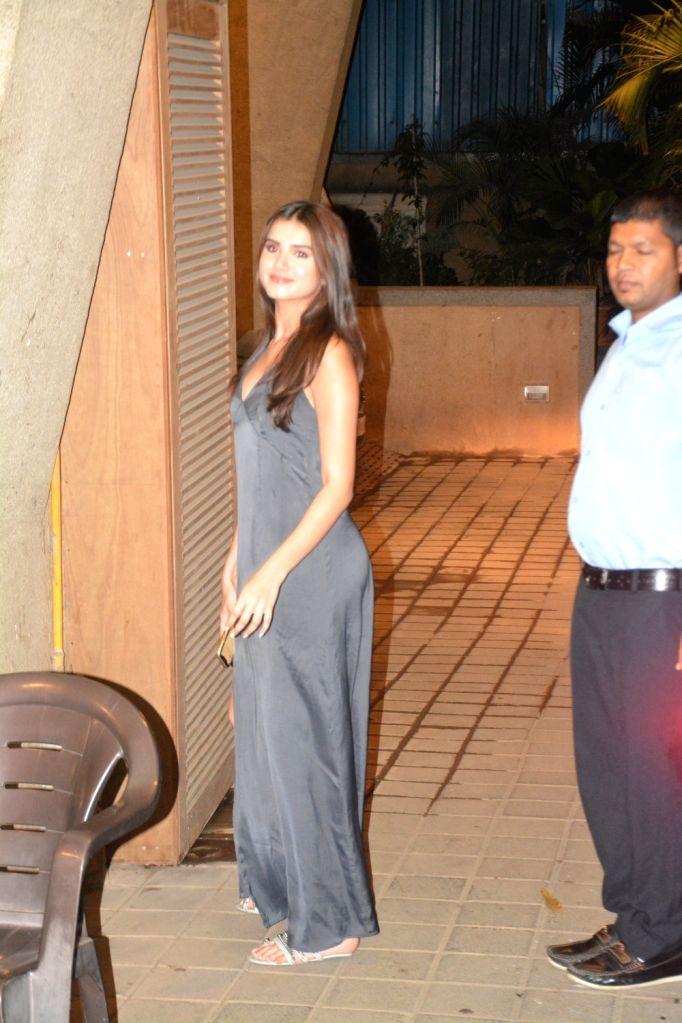 Actress Tara Sutaria seen at director Puneet Malhotra's residence in Mumbai, on April 12, 2019. - Tara Sutaria and Puneet Malhotra