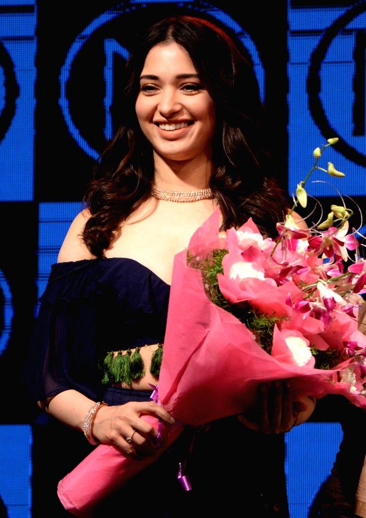 Actress Thamannaah Bhatia during a programme in Bengaluru on Dec 4, 2017. - Thamannaah Bhatia