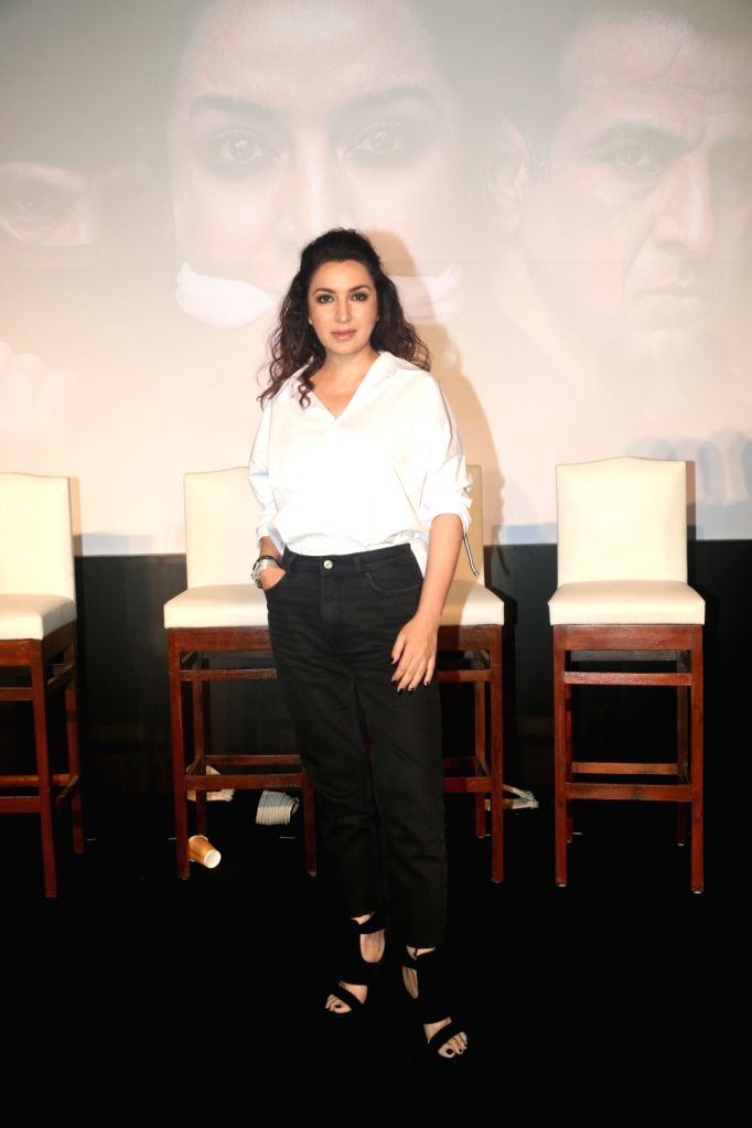Actress Tisca Chopra at the screening of her web series 'Hostages', in Mumbai, on May 22, 2019. - Tisca Chopra