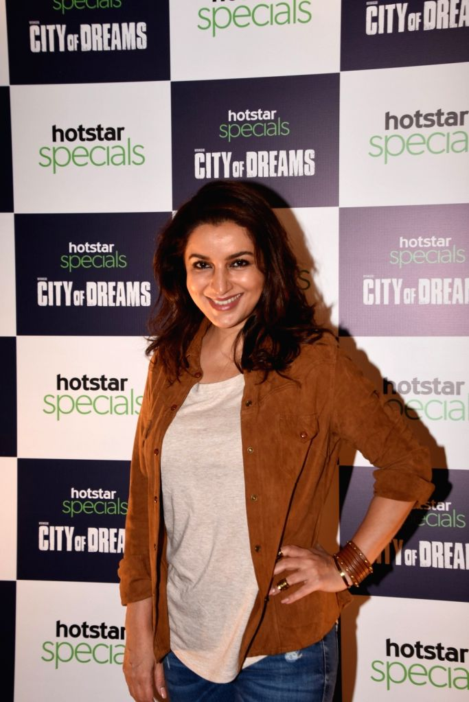 """Actress Tisca Chopra at the trailer launch of the upcoming web series """"City of Dreams"""" in Mumbai, on April 25, 2019. - Tisca Chopra"""