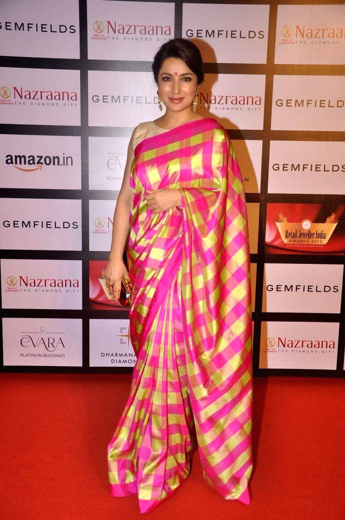Actress Tisca Chopra during the Gemfields and Nazraana Retail Jeweller India Awards 2015, in Mumbai, 2015. - Tisca Chopra