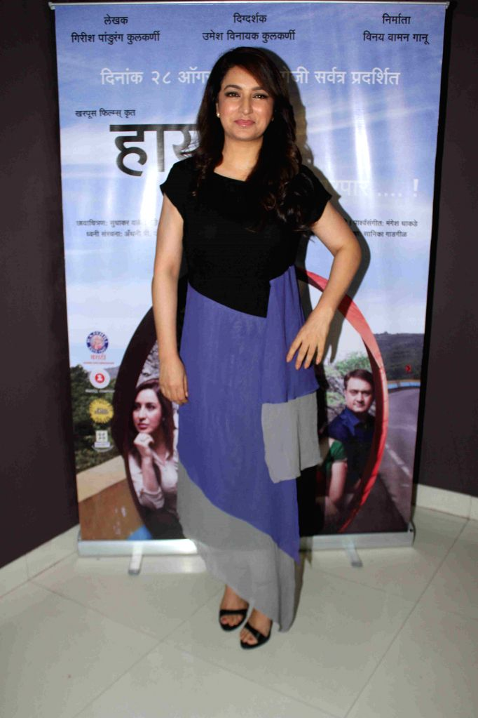 Actress Tisca Chopra during the media interaction of Marathi film Highway, in Mumbai, on August 6, 2015. - Tisca Chopra