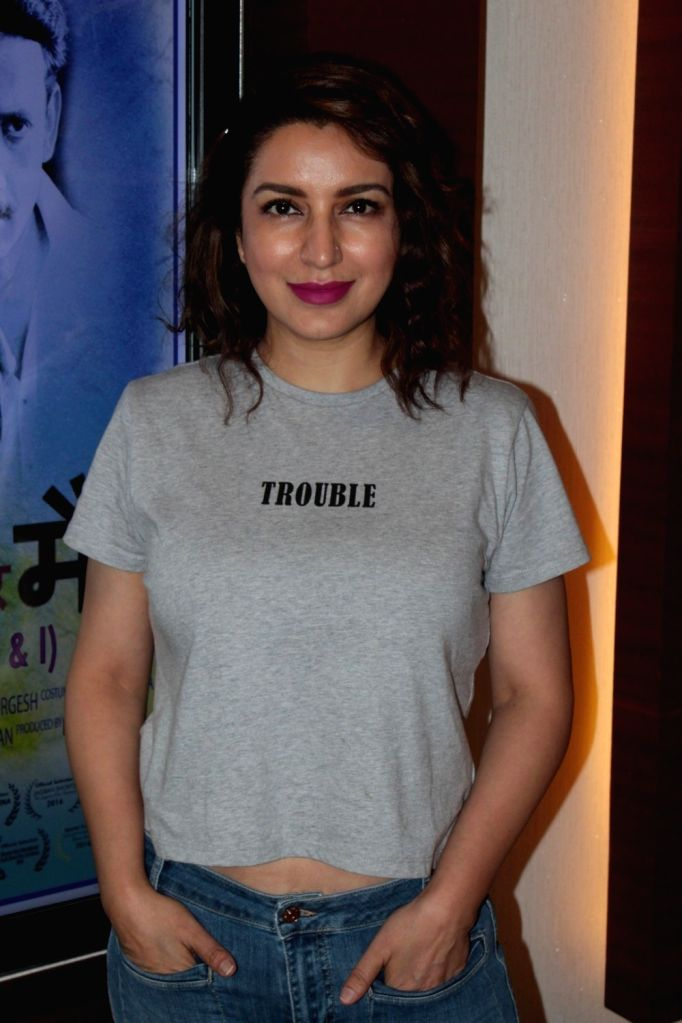 Actress Tisca Chopra during the promotion of film Amruta in Mumbai, on May 30, 2017. - Tisca Chopra