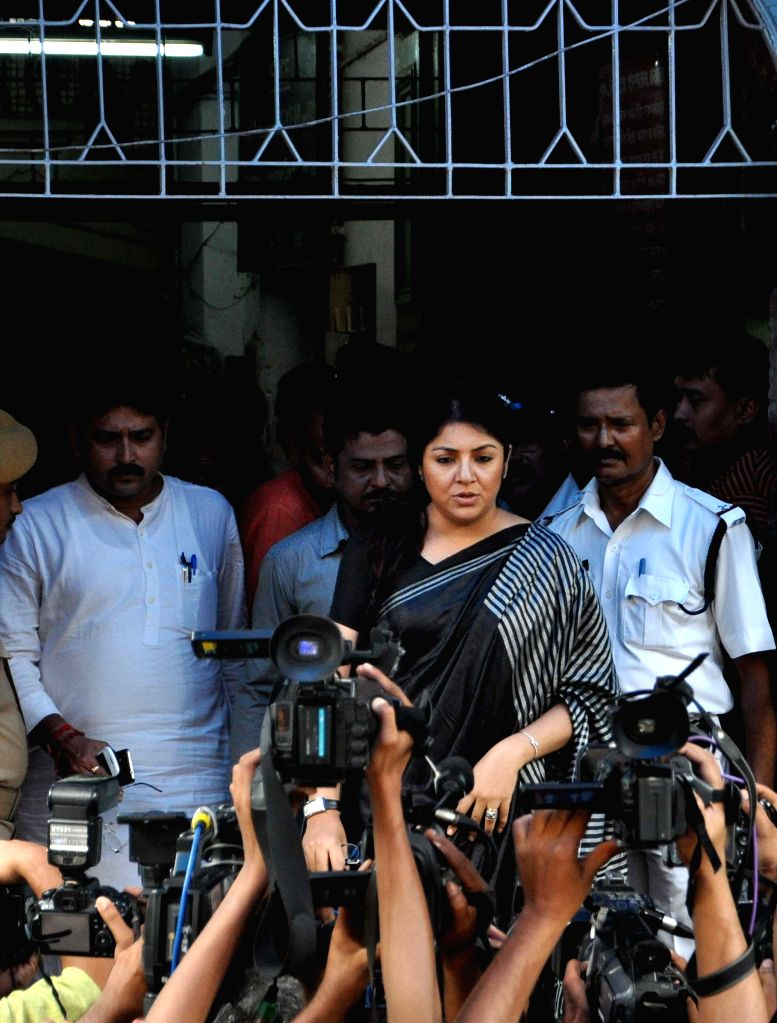 Actress turned BJP leader Locket Chatterjee at SSKM Hospital in Kolkata on June 29, 2015.