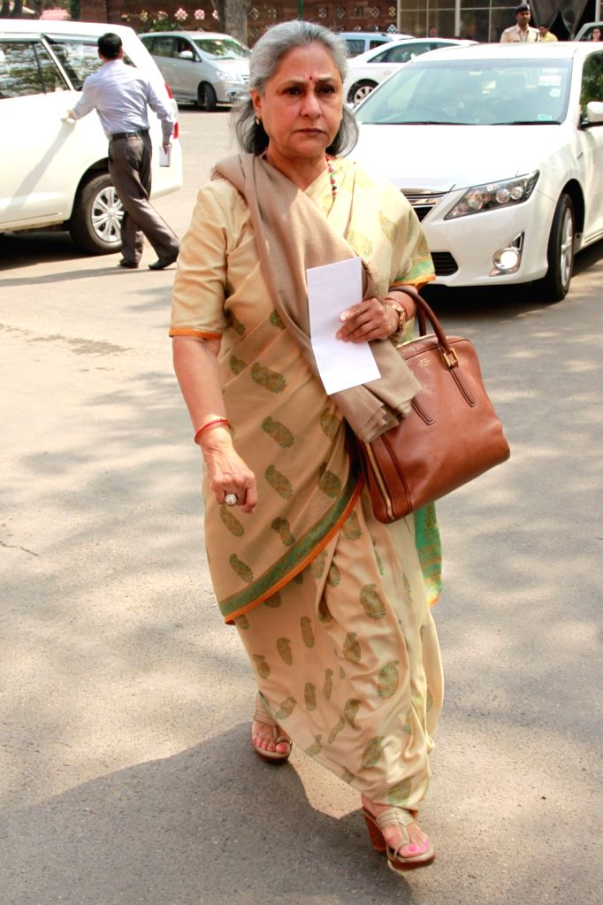 Actress turned politician Jaya Bachchan arrives to attend the second phase of Budget Session of the Parliament, in New Delhi on March 9, 2017. - Jaya Bachchan