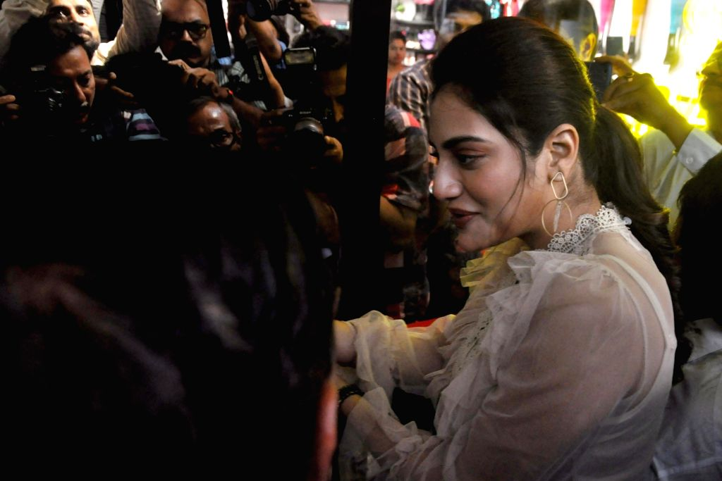 Actress-turned-politician Nusrat Jahan at the launch of a store in Kolkata on Oct 16, 2019.