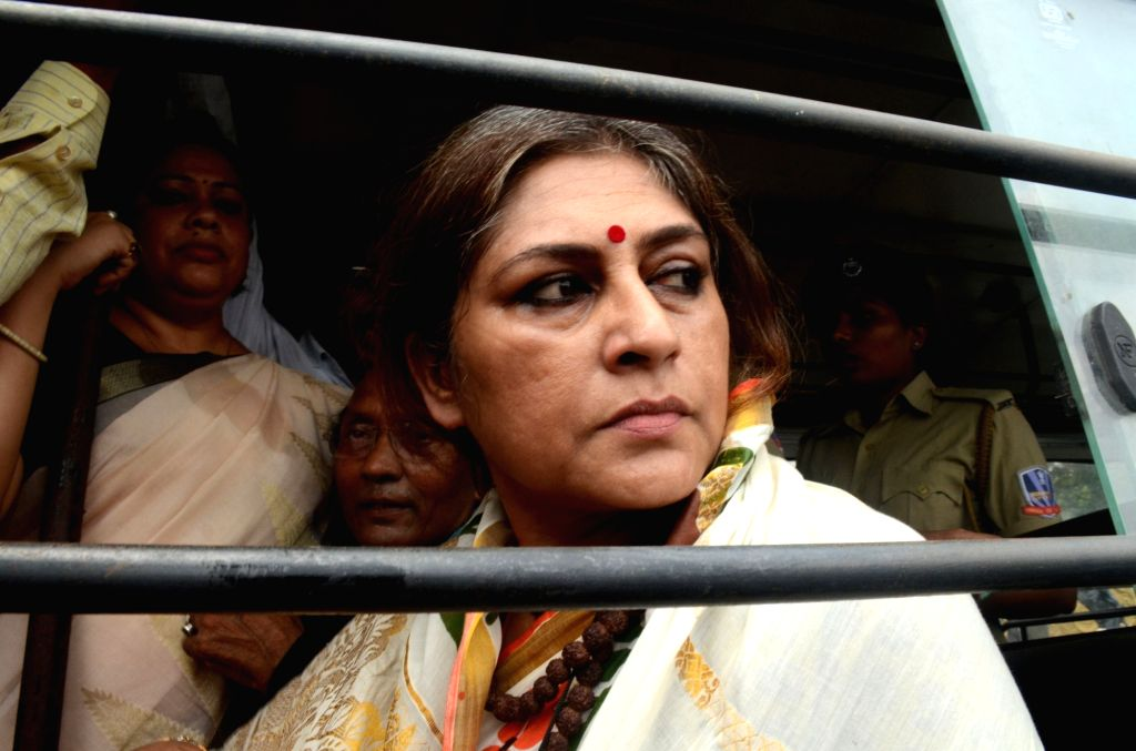 Actress turned politician Roopa Ganguly who was detained by police near Michael Nagar area when she along with other BJP leaders was on her way to riot-hit Baduria in West Bengal's North 24 ...