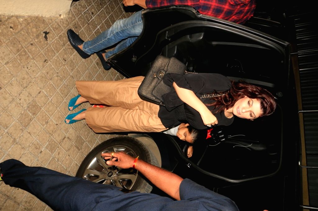 "Actress Twinkle Khanna arrives at the screening of the film ""Avengers: Endgame"" in Mumbai, on April 26, 2019. - Twinkle Khanna"