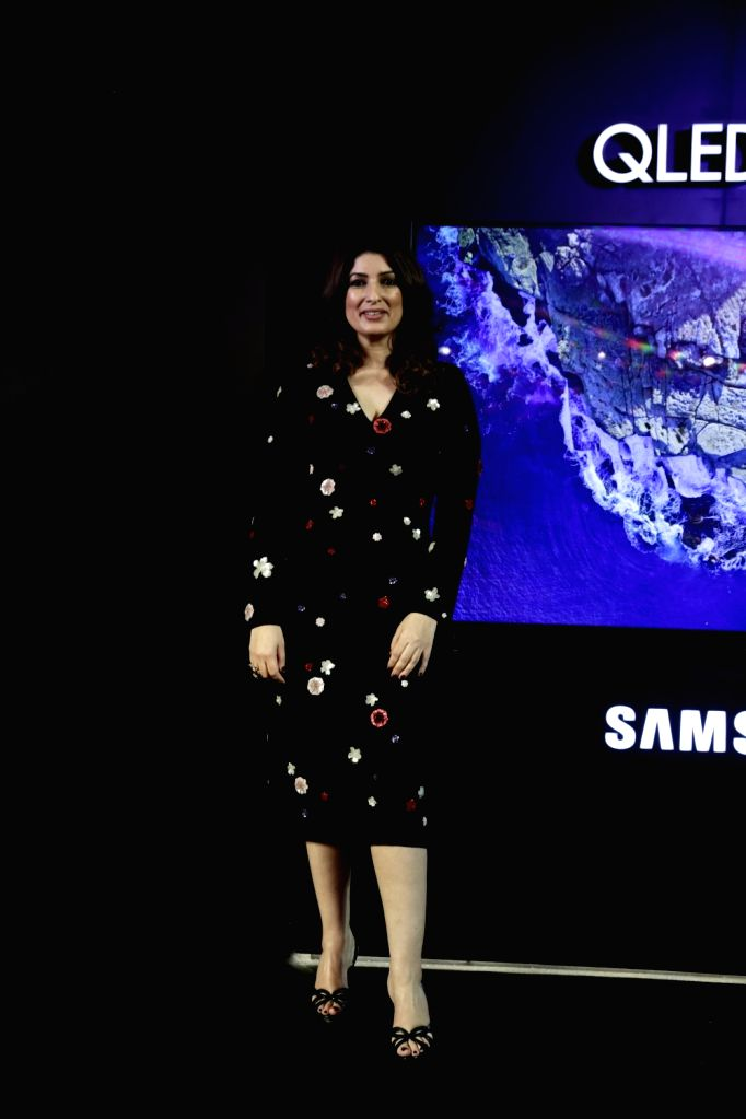 Actress Twinkle Khanna at the launch of Samsung QLED 8K TV, in New Delhi on June 4, 2019. - Twinkle Khanna