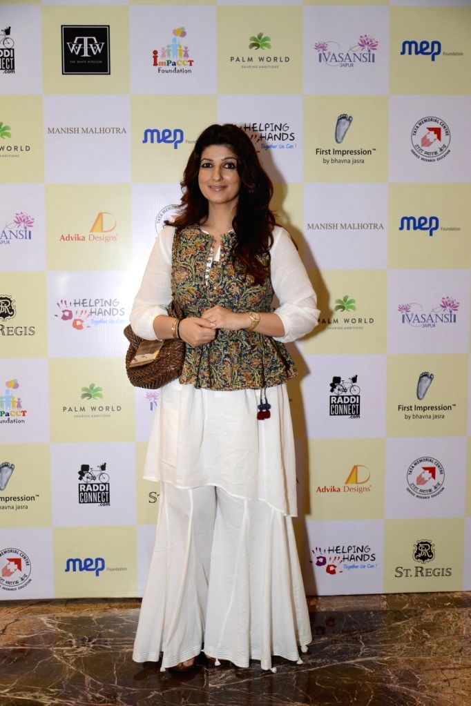 Actress Twinkle Khanna during the Helping Hands Exhibition cum fundraiser event, on Oct 14, 2016. - Twinkle Khanna