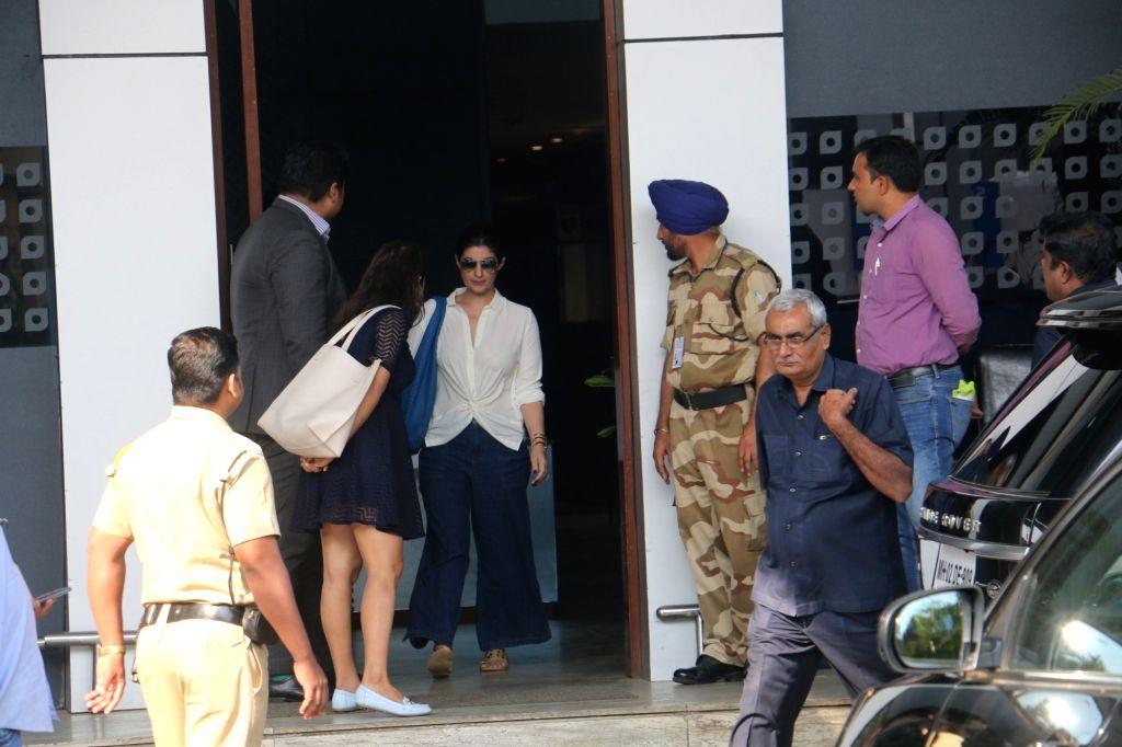Actress Twinkle Khanna seen at Mumbai's airport on Jan 3, 2019. - Twinkle Khanna