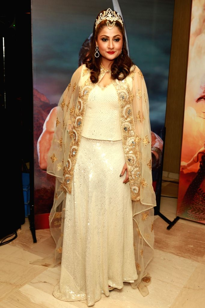 "Actress Urvashi Dholakia during a press conference regarding television soap ""Chandrakanta"" in New Delhi, on June 20, 2017. - Urvashi Dholakia"