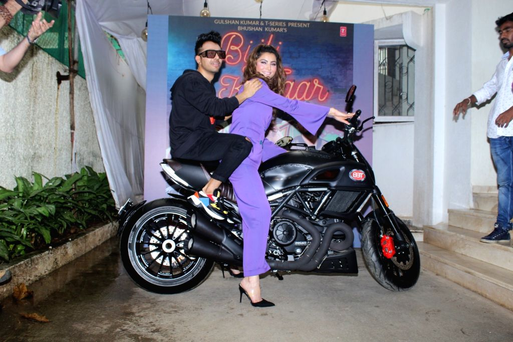 "Actress Urvashi Rautela and singer Tony Kakkar at the launch of their song ""Bijli Ki Taar"" in Mumbai on Sep 16, 2019. - Urvashi Rautela"