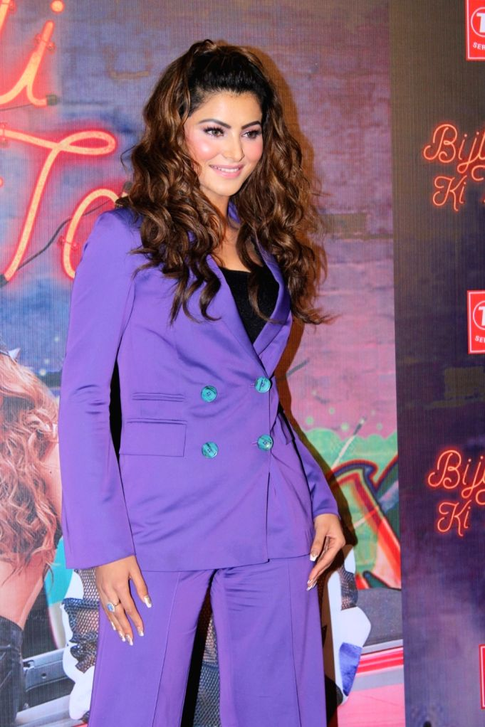 "Actress  Urvashi Rautela at the launch of her song ""Bijli Ki Taar"" in Mumbai on Sep 16, 2019. - Urvashi Rautela"
