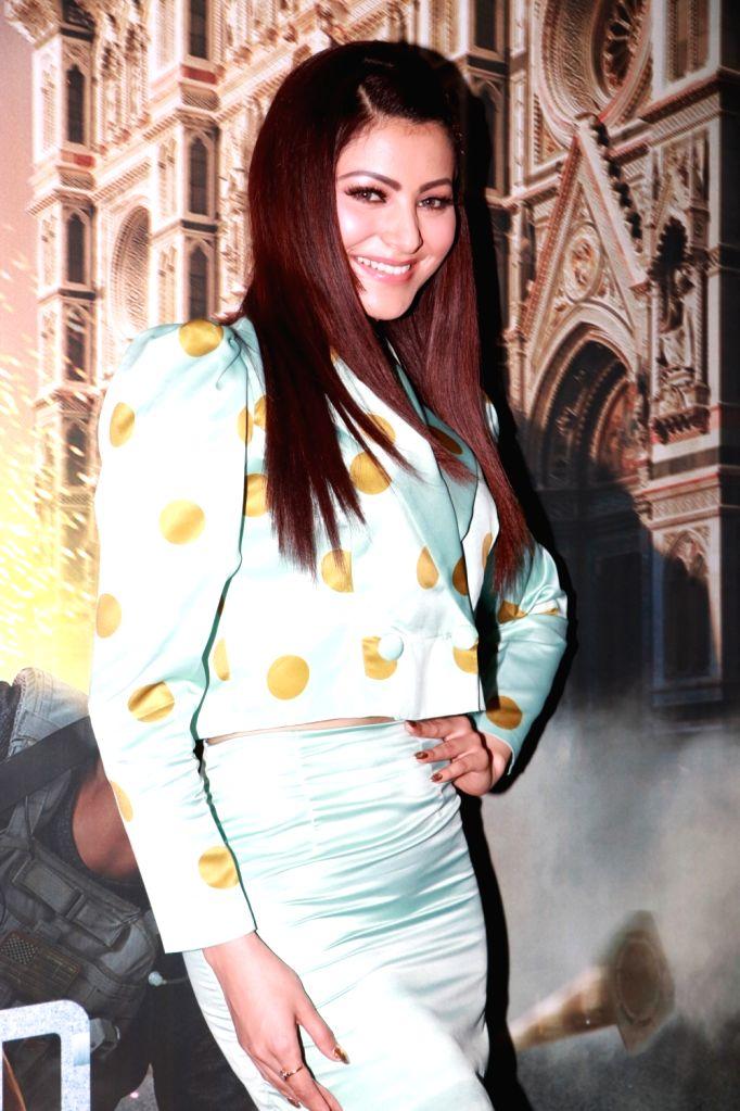 "Actress Urvashi Rautela at the screening of their upcoming Netflix web series ""6 Underground"", in Mumbai on Dec 12, 2019. - Urvashi Rautela"
