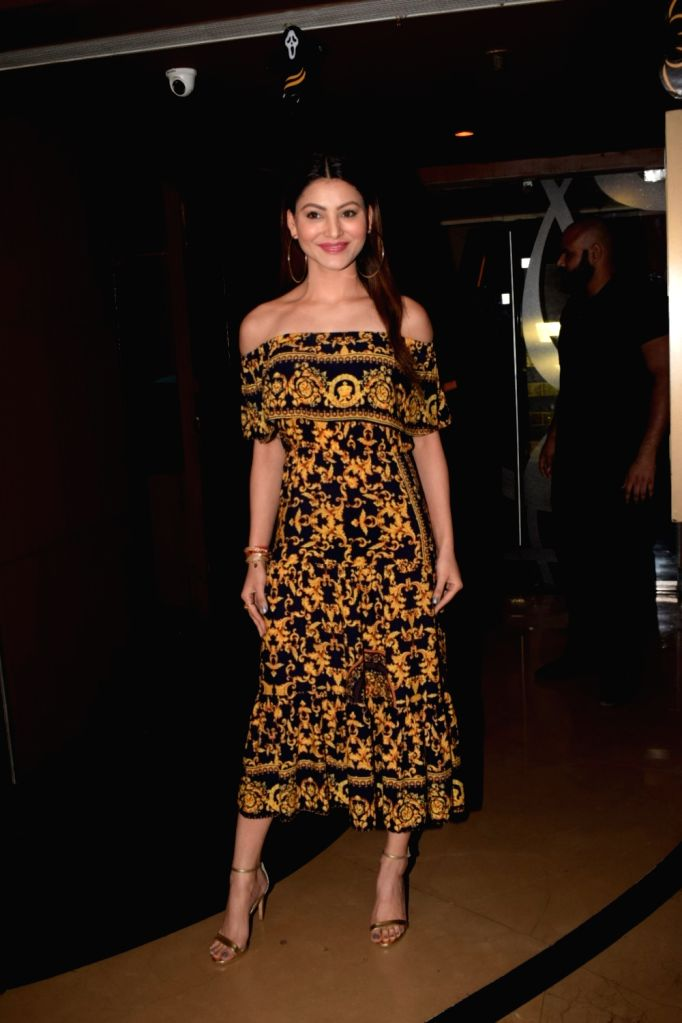 "Actress Urvashi Rautela at the special screening of film ""Ekkees Tareekh Shubh Muhurat"" in Mumbai on Nov 1, 2018. - Urvashi Rautela"