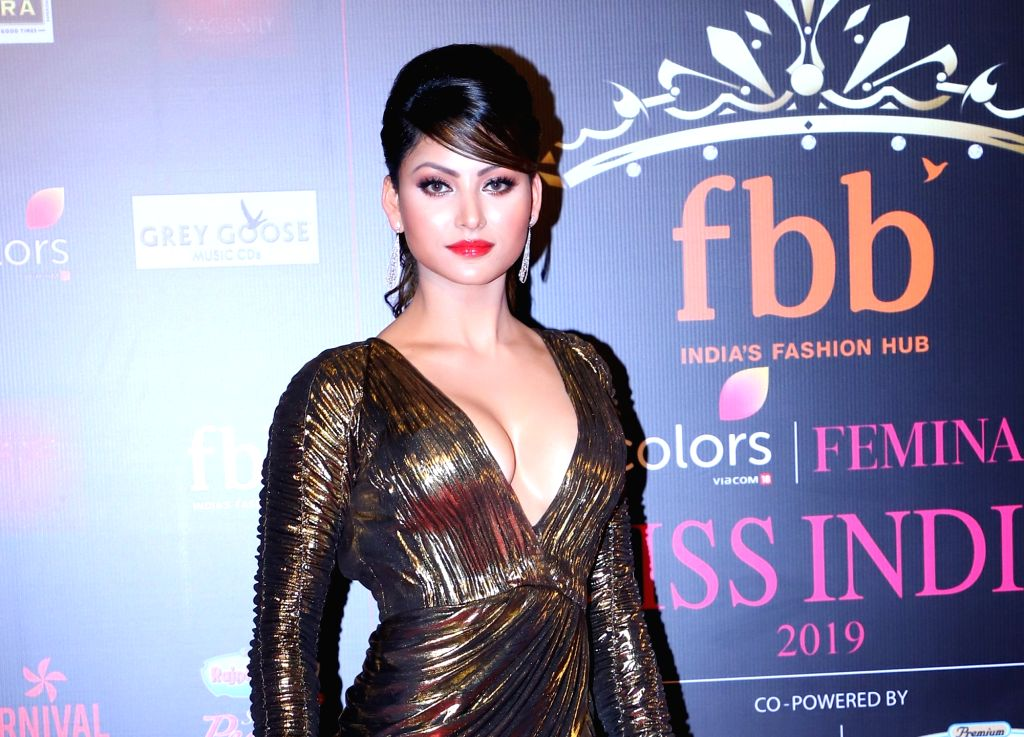 Actress Urvashi Rautela during a programme organised by fbb Colors Femina Miss India 2019, in Mumbai, on May 26, 2019. - Urvashi Rautela