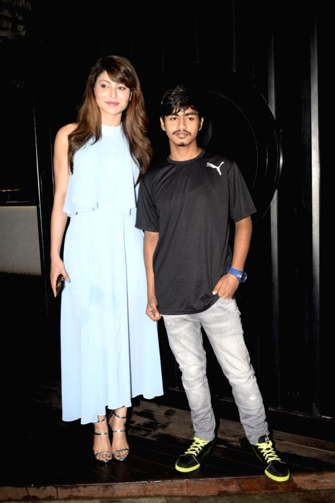 Actress Urvashi Rautela during her brother Yashraj Rautela birthday celebration in Mumbai on July 23, 2018. - Urvashi Rautela