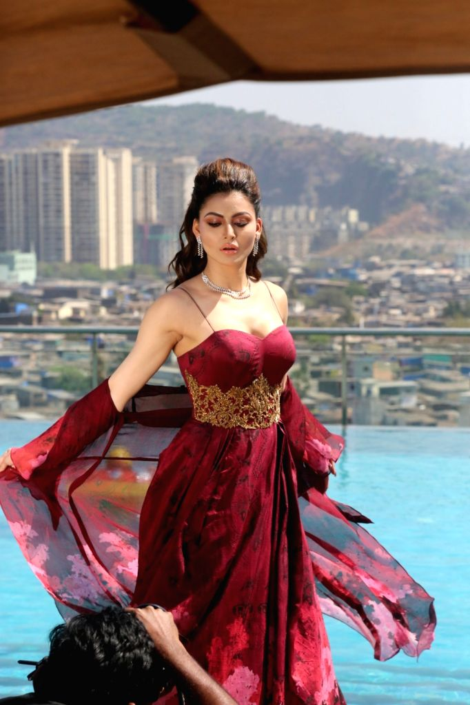 Actress Urvashi Rautela during photoshoot for a magazine in Mumbai on Feb 11, 2018. - Urvashi Rautela