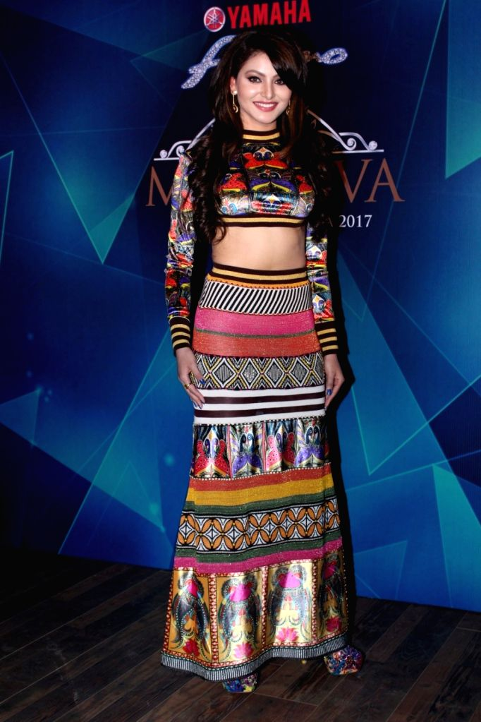 Actress Urvashi Rautela during the 1st Ever Bloggers Meet Of Yamaha Fascino Miss Diva Miss Universe India 2017 in Mumbai on Sept 8, 2017. - Urvashi Rautela
